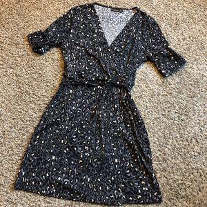 Apt 9 animal print faux wrap dress